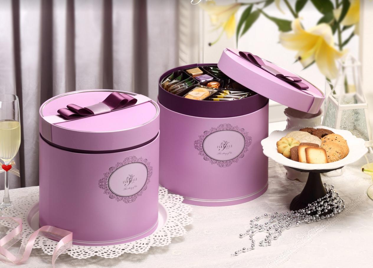 伊莎貝爾喜餅 法式喜餅 巴黎時尚系列 羅蘭紫提親囍餅伴手禮