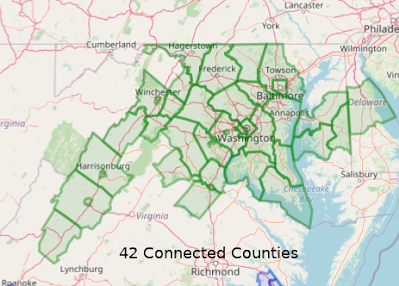 Connected Counties