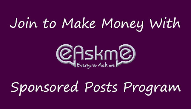 Make Money Publishing Sponsored Posts: eAskme