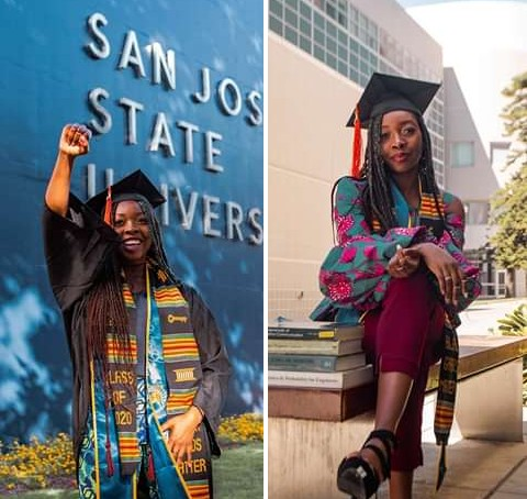 Abia Lady Emerges Best Graduating Student In US (Photos)