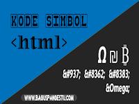 Kode HTML Simbol dan Karakter Khusus (Lengkap)