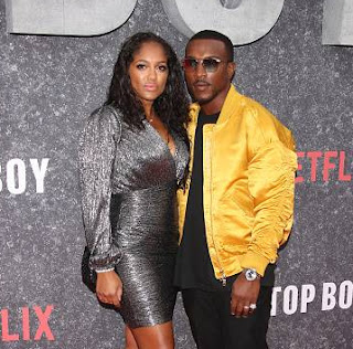 British actress, Danielle Isaie with her husband Ashley Walters