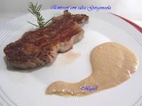 Entrecot con salsa gorgonzola