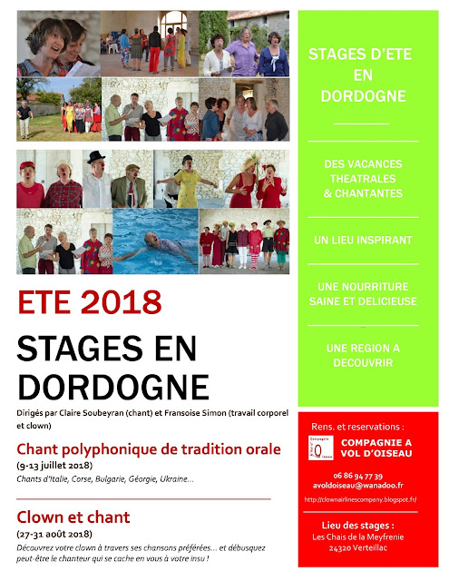 Stages d'été 2018