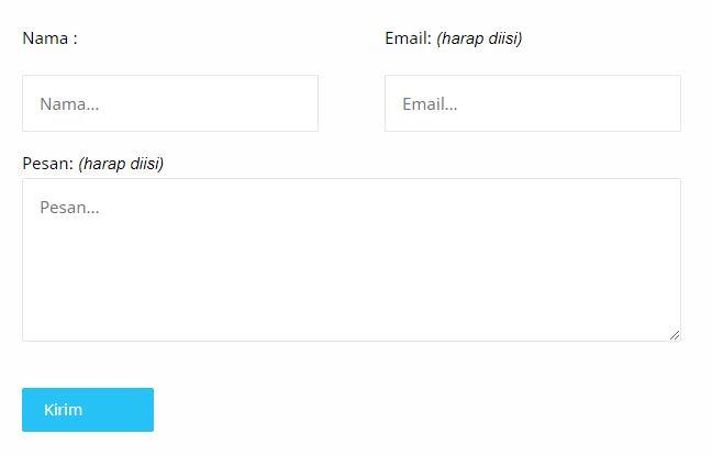 Cara Membuat Halaman Contact Us di Blog Dengan Mudah
