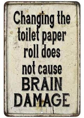 Changing the toilet paper des not...