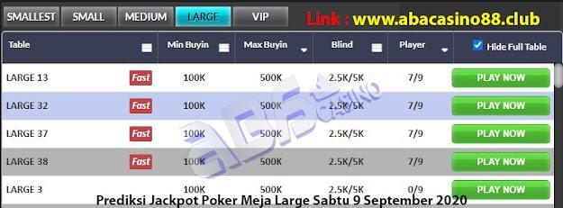 prediksi jackpot poker meja large sabtu 5 september 2020