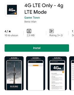 lock 4G LTE Only