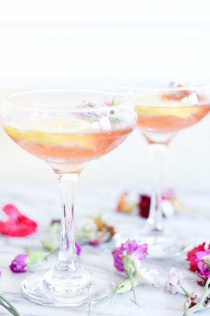 Ginger Lemongrass Rosé Cocktail