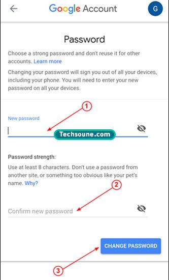 تغيير كلمة المرور Gmail 14