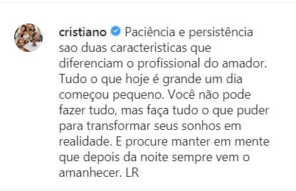 CR7 Instagram Post
