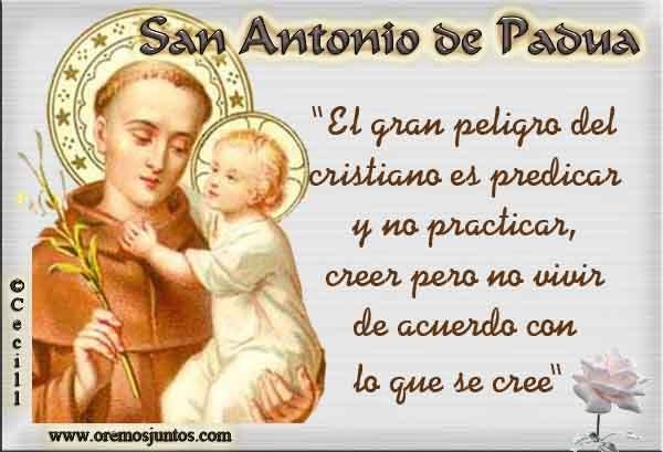 San Antonio En Dibujos Animados: ® Gifs Y Fondos Paz Enla Tormenta ®: SAN ANTONIO DE PADUA