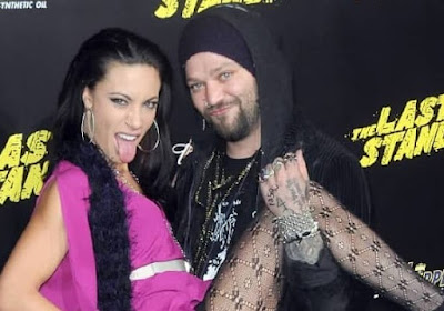 Missy Rothstein posing for picture with her ex-husband Bam Margera