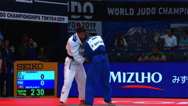 إيقاف لاعب الجودو الجزائري نورين ومدربه عمار بن خليفة بعد رفض الأول مواجهة إسرائيلي في أولمبياد طوكيو