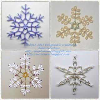 Снежинки из бисера Юлии Лебедевой
