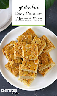 Easy Caramel Almond Slice Recipe