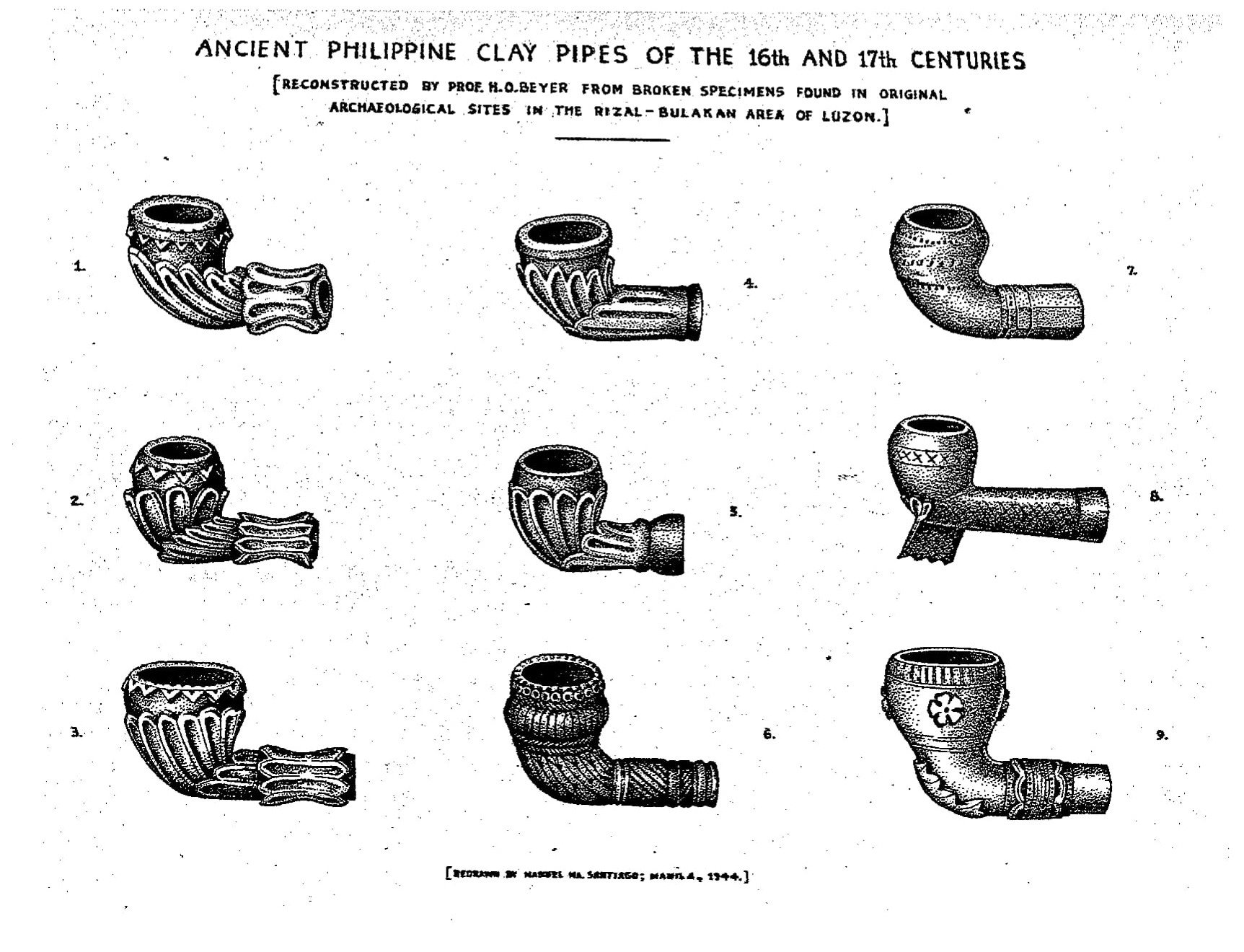Ancient Philippine Clay Pipes
