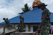 Prajurit TNI Yonif RK 751/VJS Bantu Pengecoran Masjid di Jayapura