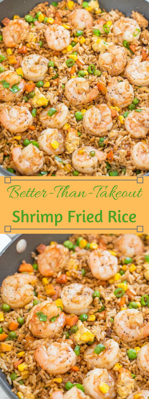 Easy Better Than Takeout Shrimp Fried Rice #appetizers #snacks #creamcheese #shrimp #lunch