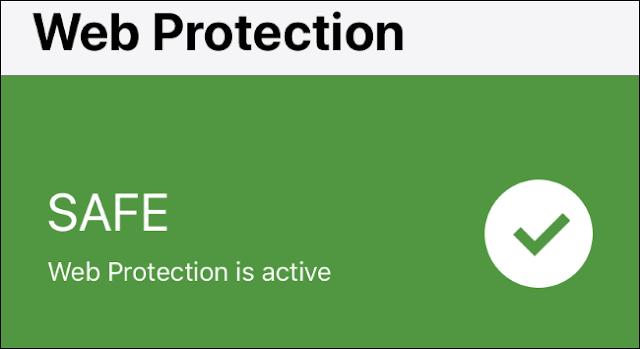 حالة حماية الويب في Norton Mobile Security على iPhone