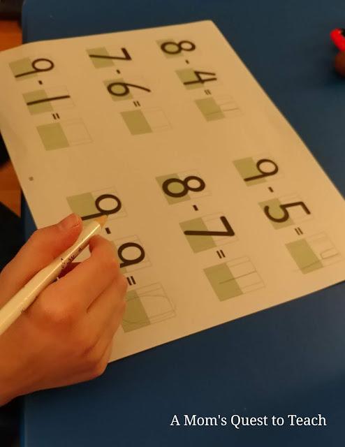 subtraction Neat Numbers worksheet