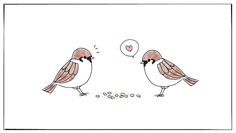 鳥のスズメ 雀 のイラストの簡単な描き方 遠北ほのかのイラストサイト