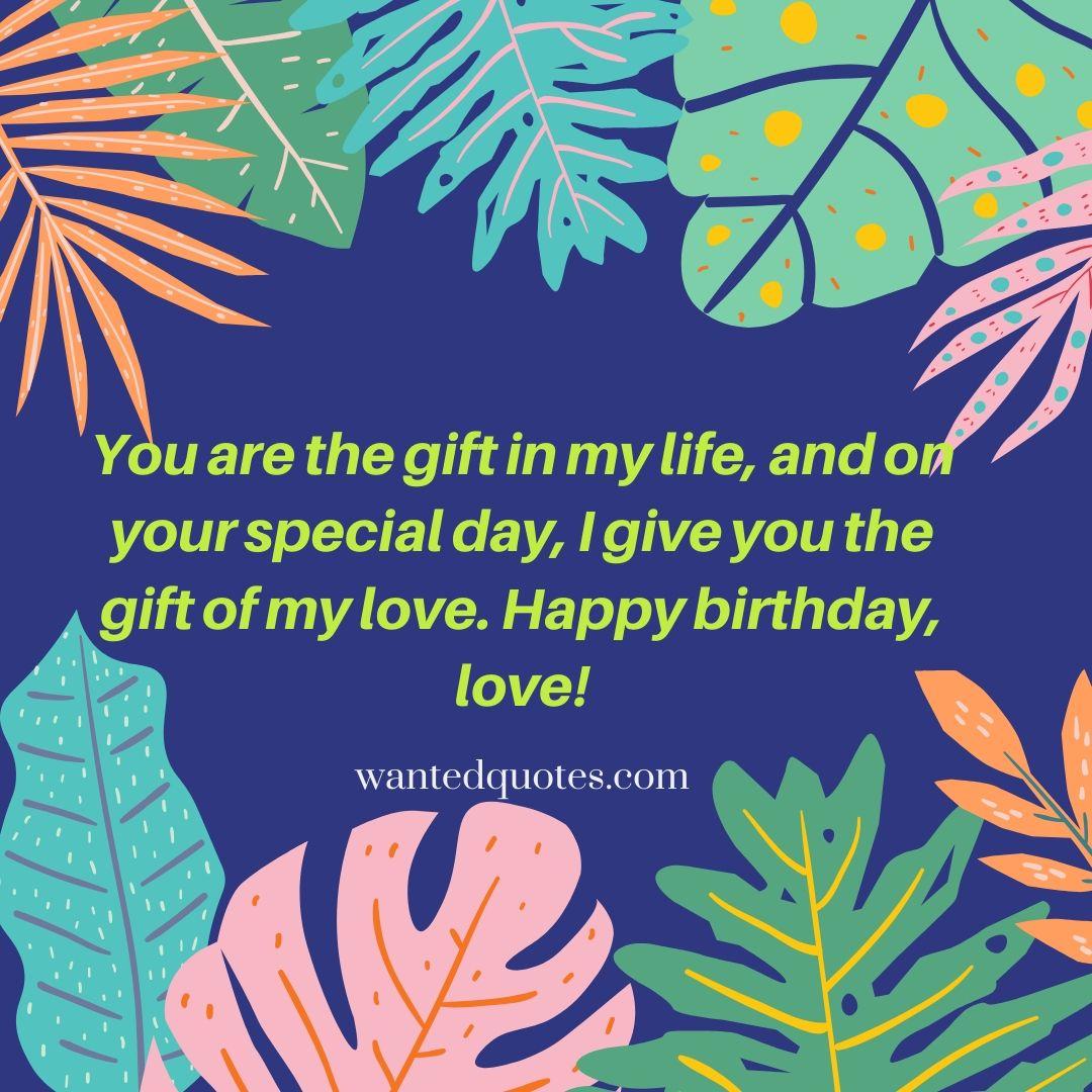 Love quotes for boyfriend birthday card