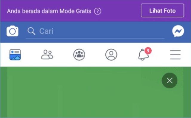 cara keluar dari mode gratis facebook
