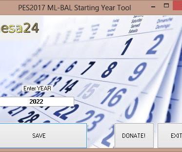PES 2017 ML-BAL Starting Year Tool 2020