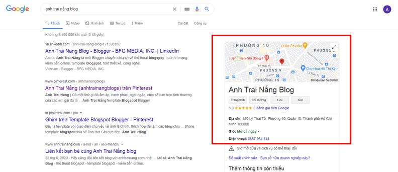 Thủ thuật seo từ khóa lên Google Business (vị trí doanh nghiệp)