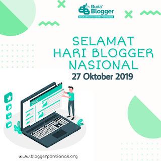 banner komunitas blogger pontianak untuk memperingati hari blogger nasional