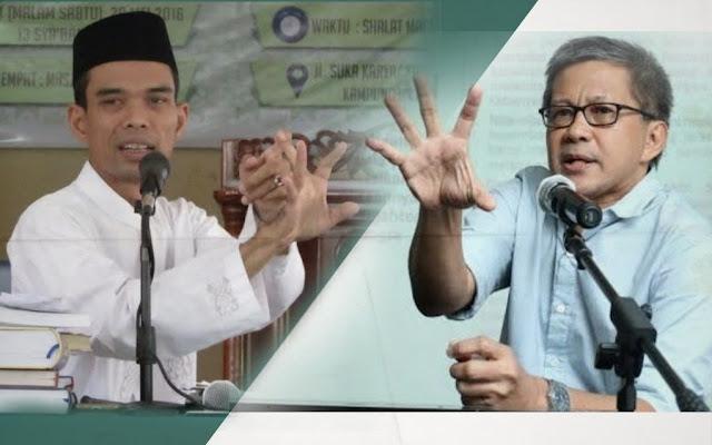 Jawaban Rocky Gerung Ditanya Ustadz Abdul Somad Apa Tidak Pernah Ada Rasa Takut Kritik Penguasa