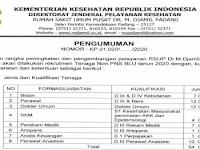Penerimaan Pegawai PTT Rumah Sakit M Djamil Padang - Perawat Bidan 19 Orang dll sd 21 Feb 2020