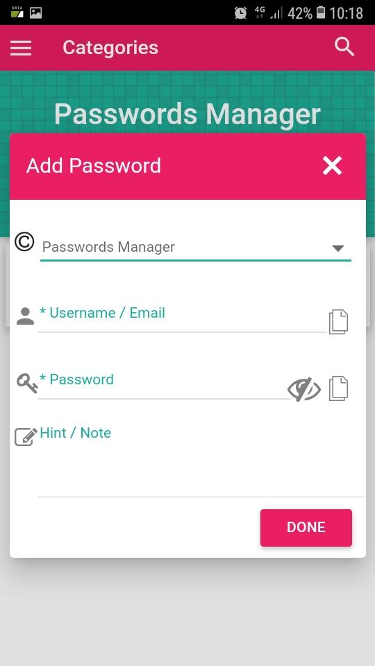 تطبيق جديد لحفظ كلمات المرور على هاتفك مع التشفير العالي