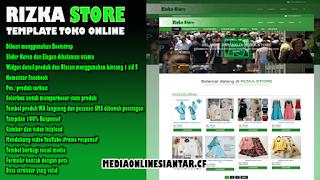 Template Toko Online Blogger ( RIZKA STORE ) Premium