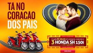 Promoção Shopping União Osasco Dia dos Pais 2018 3 Motos Honda Capacete