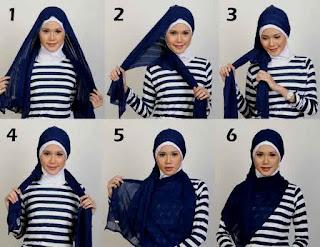cara memakai hijab simpel terbaru
