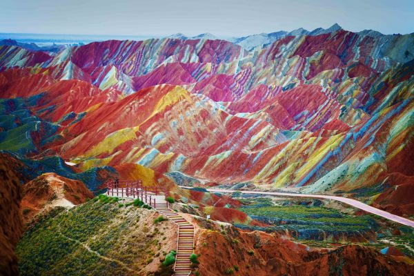 Rainbow Mountains of Zhangye Danxia, China HD Background