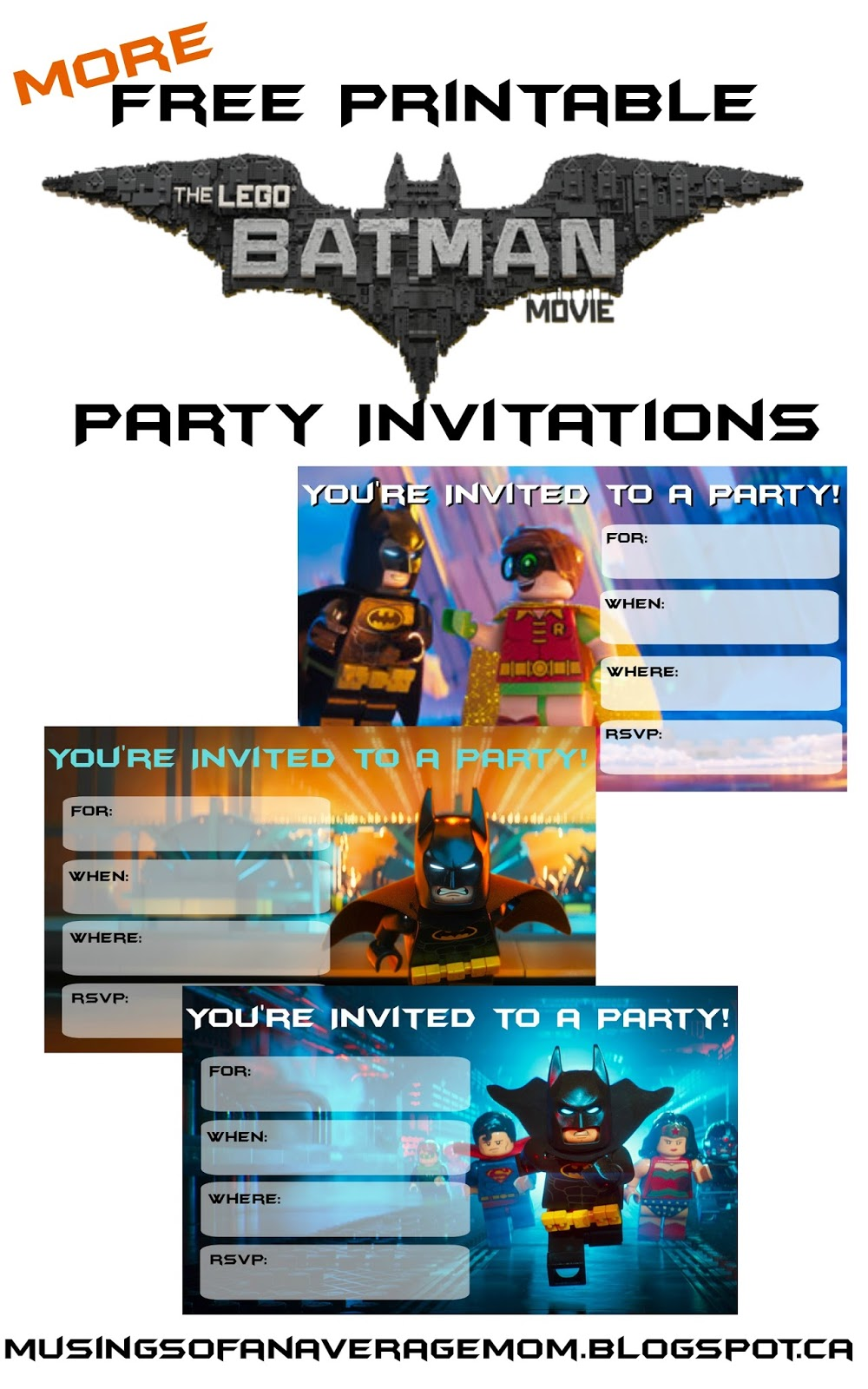 Musings of an Average Mom: Everything you need for a Lego Batman Party