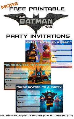 Lego Batman Party Printables