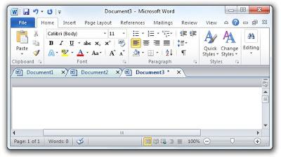 為微軟Offic辦公室軟體加上分頁標籤,Office Tab V9.70 多國語言版!