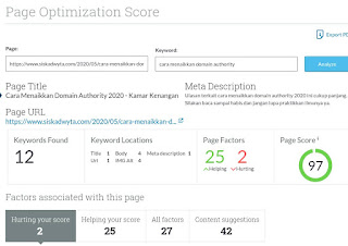 Meningkatkan domain authority dengan page optimatization dari moz