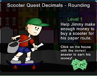Scooter Quest Decimals - Rounding