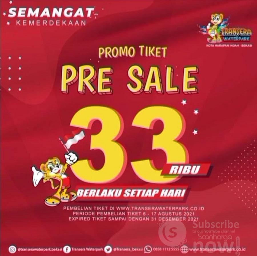 Transera Waterpark Bekasi Promo PRE-SALE Tiket CUMA Rp. 33Ribu*