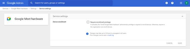 Alt text - Admin console screen showing new enforcement option