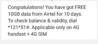 Airtel Free Internet Data Offer 2020
