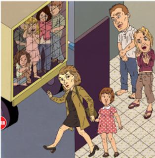 אילוסטרציה - פקידת סעד מוציאה ילדים מהבית