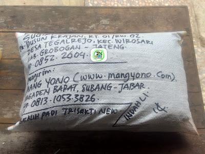 Benih padi yang dibeli    SUGIRI Grobogan, Jateng. (Setelah packing karung ).
