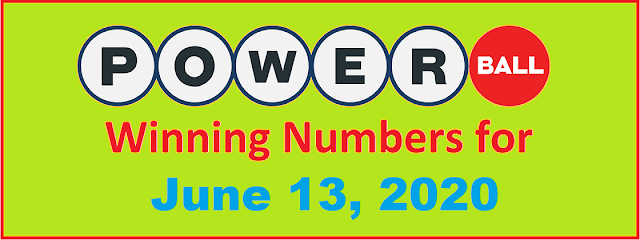 PowerBall Winning Numbers for Saturday, June 13, 2020