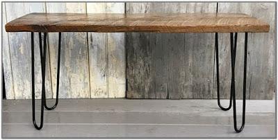Wood Slab Coffee Table Hairpin Legs;Tree Slab Coffee Table